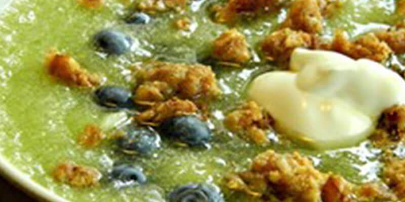 Ljetna juha od dinje, medljike i borovnica